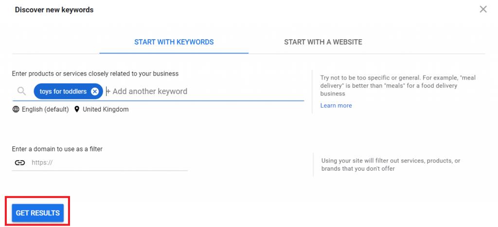 Get results on Google Ads